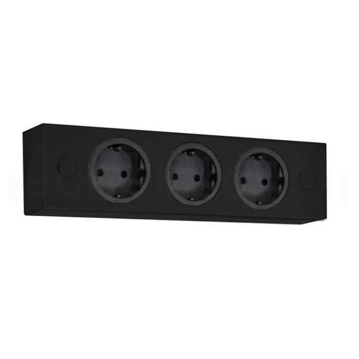 Beroemd Thebo 174828 ST 3002 zwart opbouw stopcontact 3 voudig HA88